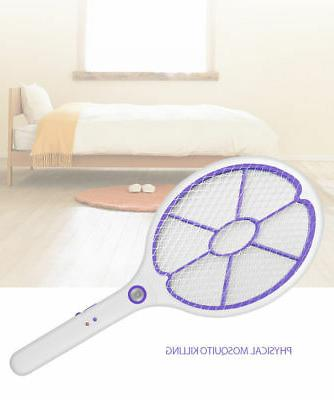 DC Power High-voltage Fly Swatter Racket Bug Zapper