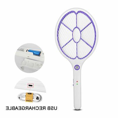 rechargeable high voltage electric fly swatter mosquito