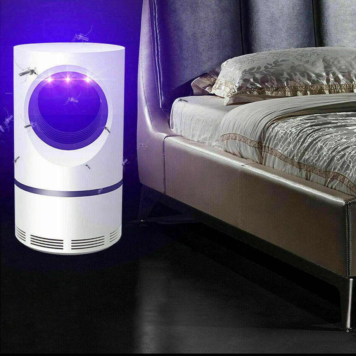 Safe Electric Mosquito Killer Lamp Bug Insect Zapper Trap LED Light
