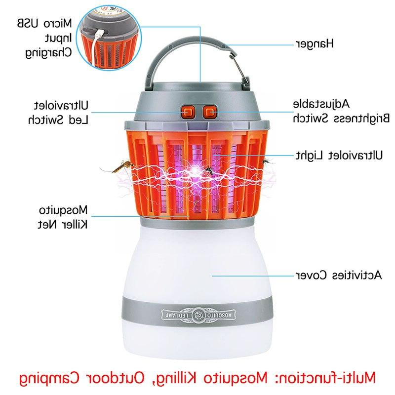 Solar Mosquito Killer Outdoor Camping Lantern USB Anti Mosquito Insect