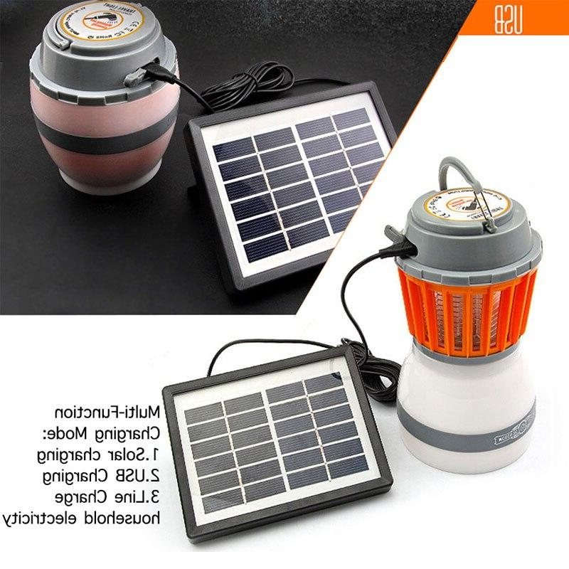 Solar Mosquito Killer Lamp Outdoor Trap Camping USB Anti Insect