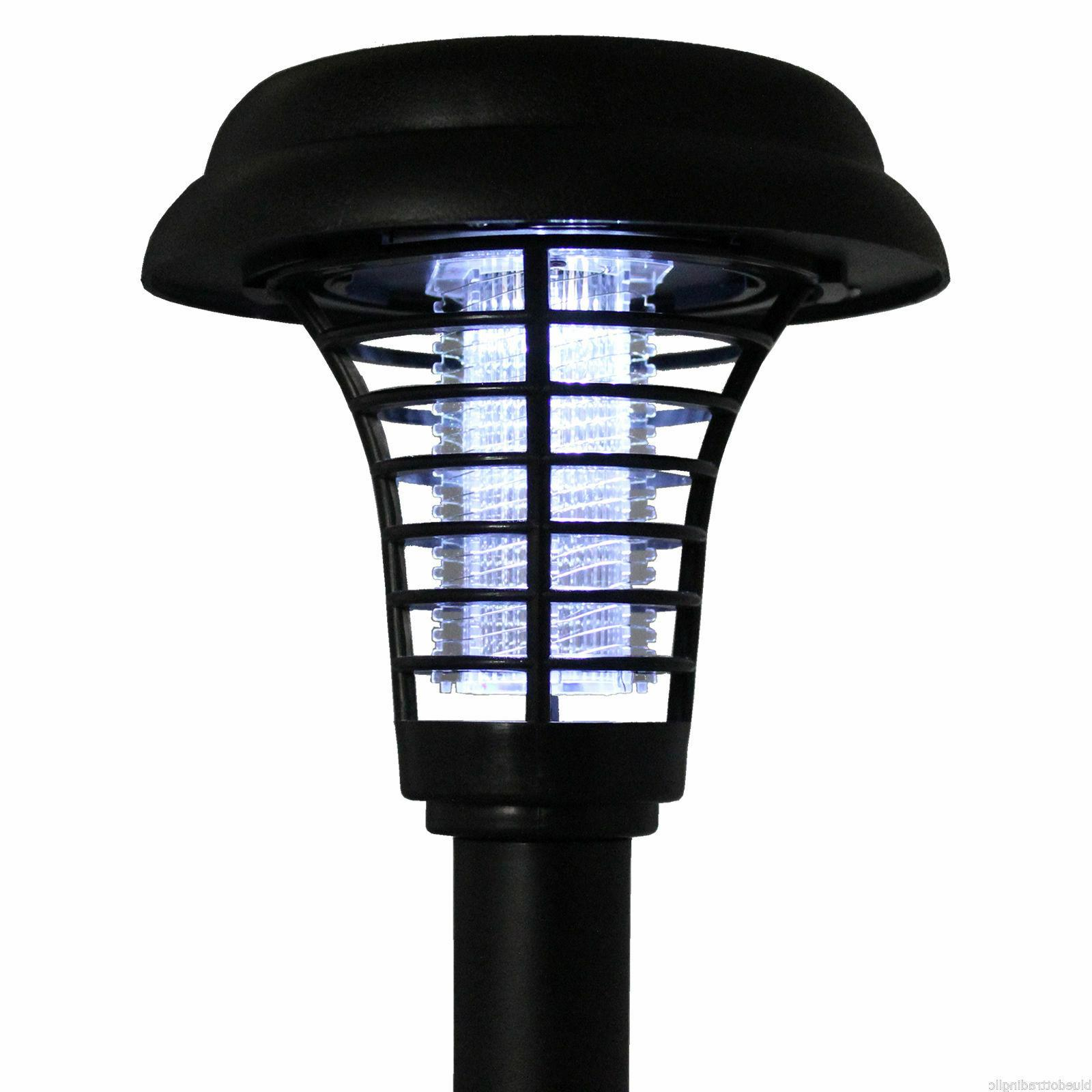 Solar Powered LED Pest Bug Zapper Insect Mosquito Killer Lamp Lawn