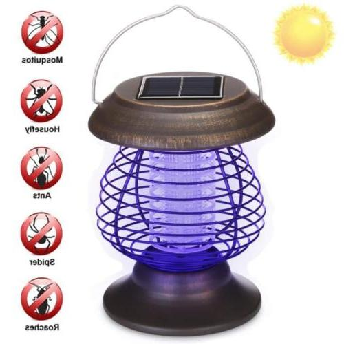 Solar Powered LED Mosquito Killer Light Insect Repeller Bug