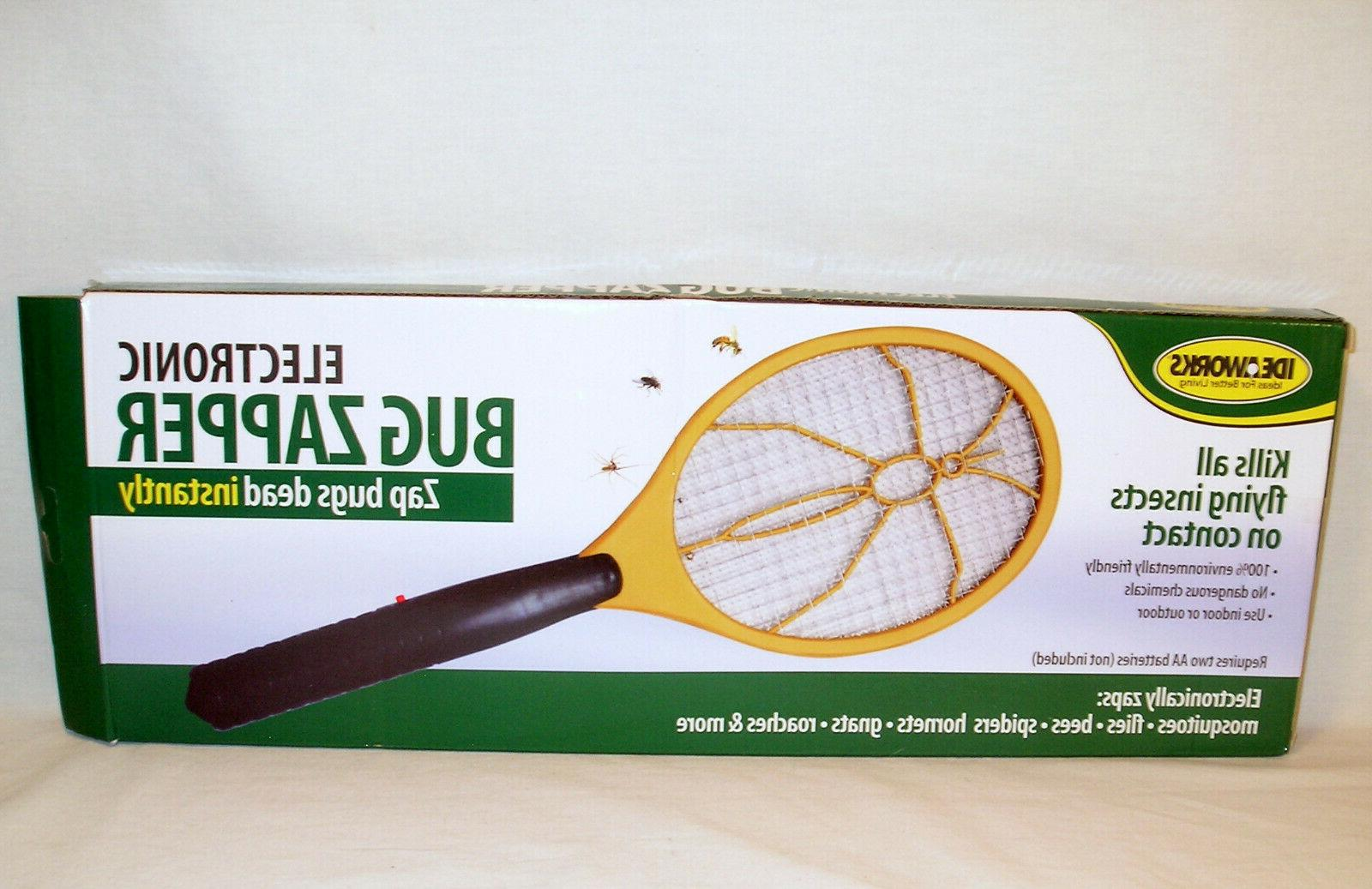 tennis racket style electronic bug zapper by