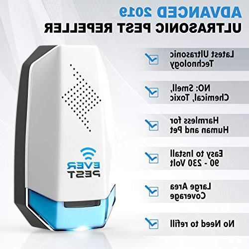 Ultrasonic Pest Plug Control - Home Electronic Indoor - Repels Bugs, Rodents, Mice, Insect, Ants,