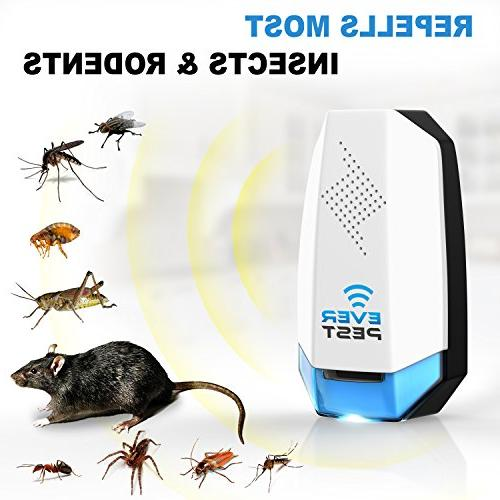 Ultrasonic Pest Plug Home Electronic - Repels Away Bugs, Insect,
