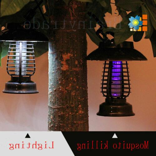 Lightweight UV Fly Pest Solar Zapper Insect Killer Mosquito