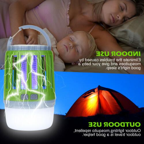 2 IN1 Electric Mosquito Insect Bug Killer Zapper UV LED Ligh