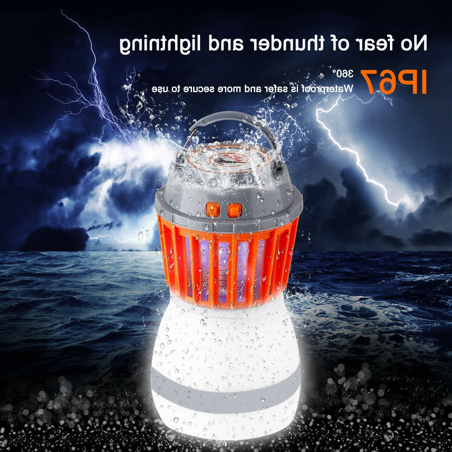 UV Solar Fly Insect Bug Pest Mosquito Zapper Night