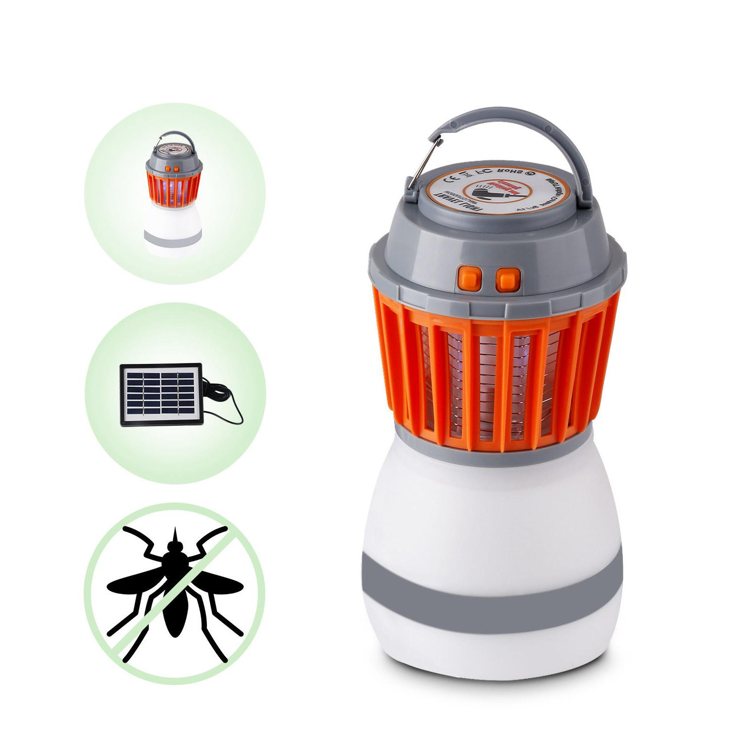 UV Solar Electric Fly Insect Mosquito Zapper Night Lamp