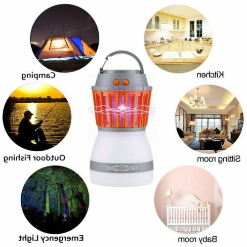 UV Solar LED Electric Fly Trap Insect Bug Lamp