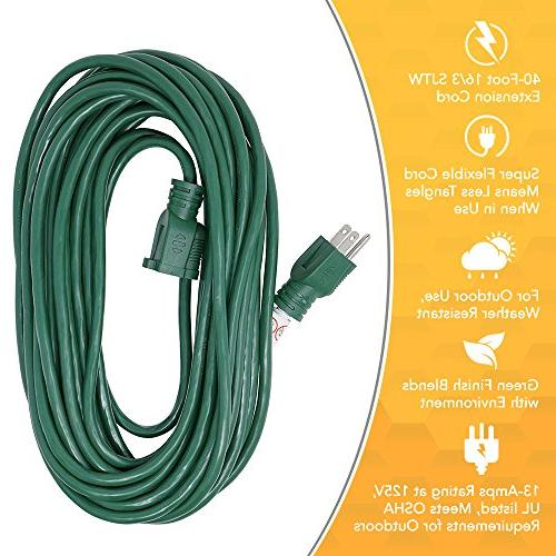 16/3, Holiday Cord,Green, Ideal Decorations