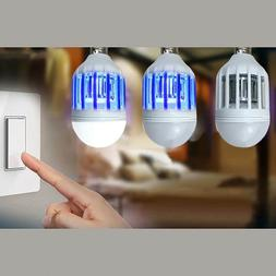 LED Bulb E27 9W Anti-Mosquito Insect Zapper Fly Bug Moth Kil