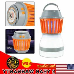 LED Camping Tent Lamp Light Mosquito UV Zapper Bug Insect La