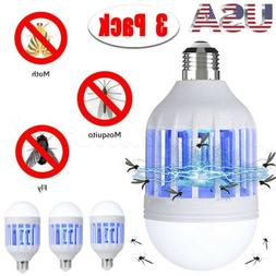 Lot Light Zapper LED Light Bulb Bug Mosquito Fly Insect Kill