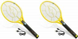 Lot of 2 Tregini Electric Fly Swatter Rechargeable Bug Zappe