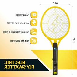Lot of 3 Tregini Electric Fly Swatter Rechargeable Bug Zappe
