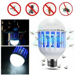 Outdoor Home Light Zapper LED Lightbulb Bug Mosquito Fly Ins