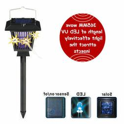 Outdoor Insect Fly Bug Pest Zapper Solar Mosquito Killer LED
