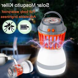 Portable Electric Bug Mosquito Killer Solar LED Camping Tent