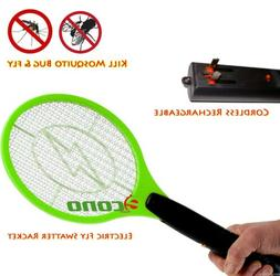 Rechargeable Electric Bug Zapper Cordless Mosquito Insect Fl