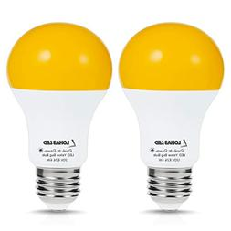 LOHAS Sensor Light LED Bulbs Dusk to Dawn, Amber Yellow Bug