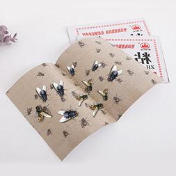 20PCS/set Sticky Glue Paper Bugs Insects Catcher Board Fly F