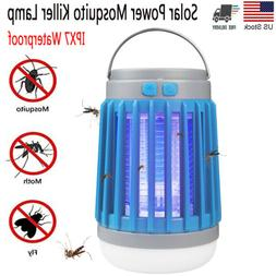 Solar Bug Zapper Lamp Electric Mosquito Insect Fly Killer LE