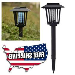 Solar Powered LED Lamp & Bug Zapper Mosquito Killer Insect R