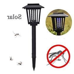 Solar Insect Zapper Mosquitoes Light, Outdoor Mosquito Insec