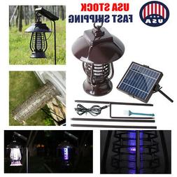 Solar Mosquito Insect Killer Zapper LED Light Fly Bug Trap L