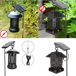 Solar Mosquito Killer UV Lamp Outdoor Fly Bug Insect Zapper