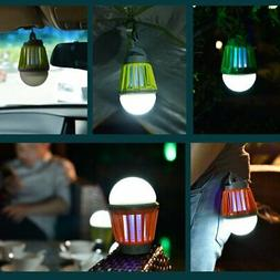 Solar Mosquito Lamp Rechargeable Outdoor Fly Bug Insect Zapp