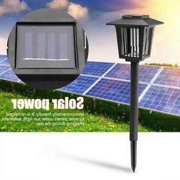 Solar Power Lights Lawn Mosquito Fly Bug Insect Zapper Kille