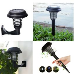 Solar Outdoor Mosquitoes Fly Bug Insect Zapper Killer Trap L