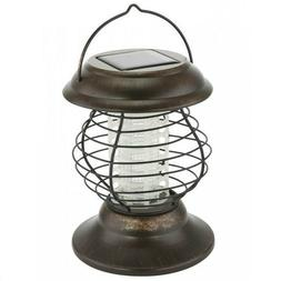 SOLAR POWERED  MOSQUITO AND  BUG ZAPPER LANTERN 6 HOURS LI