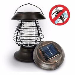 Solar Powered Outdoor Mosquito Fly Bug Insect Zapper Killer