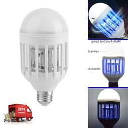 US E27 2in1 10W Bug Zapper LED Bulb 110V Mosquito Flying Kil