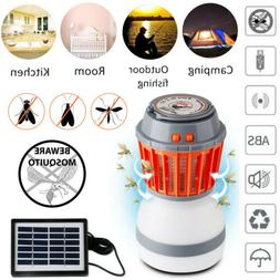 UV Solar LED Electric Fly Trap Zapper Insect Bug Pest Mosqui
