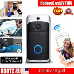 Smart WiFi Wireless Doorbell Video Two-Way HD Talk PIR Door