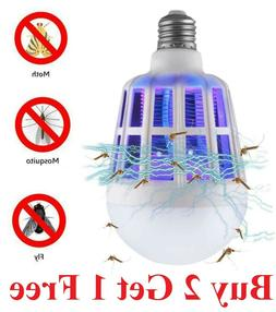 Zapper LED Lightbulb Bug Mosquito Fly Insect Killer  light B